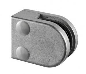 Clema MOD 20 fixare pe drept pentru montant balustrada sticla 6-8 mm