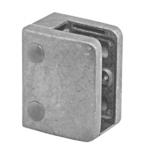 Clema MOD 24 fixare pe drept pentru montant balustrada sticla 9,52-17,52 mm