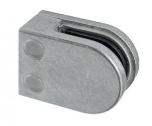 Clema MOD 22 fixare pe drept pentru montant balustrada sticla 6-10 mm