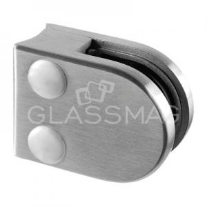 Clema sticla, 40x50mm, G=10.76 mm, teava Ø33.7 mm , inox satinat