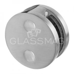 Clema sticla, Ø60 mm, G=12.76 mm ,zinc cu efect de inox satinat