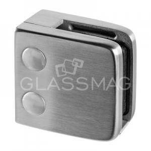 Clema sticla, 55x55mm, G=12 mm ,inox satinat