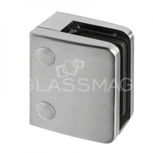 Clema sticla, 70x55mm, G=12 mm ,zinc cu efect de inox satinat