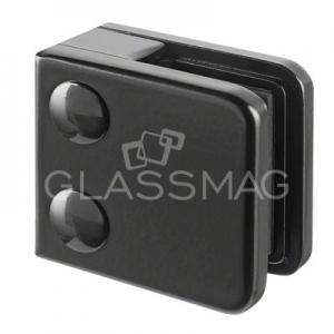 Clema sticla, 45x45 mm, G=6 mm , zinc negru