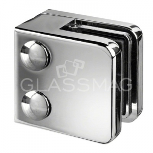 Clema sticla, 45x45mm, G=8.76 mm ,zinc cromat lucios