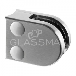 Clema sticla, 40x50mm, G=8 mm, teava Ø33.7 mm ,zinc cu efect de inox satinat