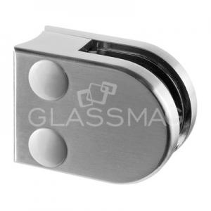 Clema sticla, 40x50mm, G=8 mm, teava Ø42.4 mm ,zinc cu efect de inox satinat