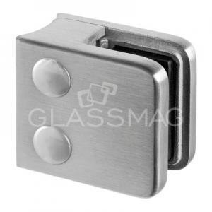 Clema sticla, 45x45mm, G=8 mm, teava Ø48.3 mm , inox satinat