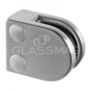 Clema sticla, 40x50 mm, G=8 mm, teava patrata, inox satinat