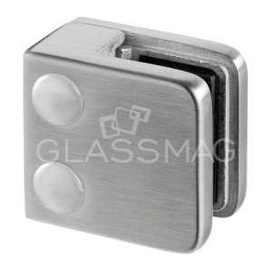 Clema sticla, 45x45mm, G=8 mm , inox satinat