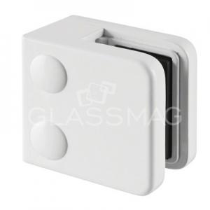 Clema sticla, 45x45mm, G=8 mm ,zinc alb