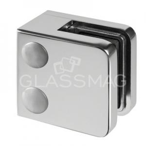 Clema sticla, 45x45mm, G=9.52 mm , zinc cromat mat