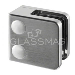 Clema sticla, 45x45mm, G=9.52 mm , zinc cu efect de inox satinat