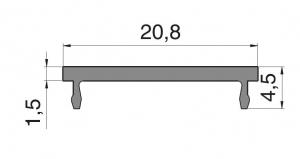 Clips toc Alexa 45, L=6000 mm