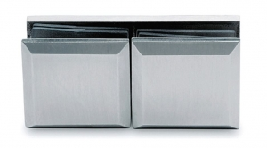 Conector cabina dus sticla/sticla 180°