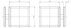 Conector cabina dus sticla/sticla 90°1