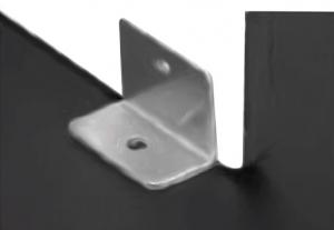 Conector inferior 90° sticla/HPL 10-13 mm compartimentare toaleta