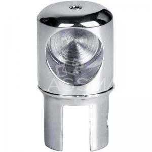 Conector sticla fara trecere teava stabilizare ø19 mm cabina dus, inox lucios