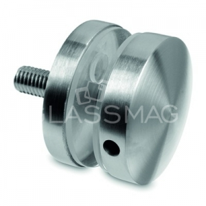 Conector sticla, Ø 50 mm, inox satinat