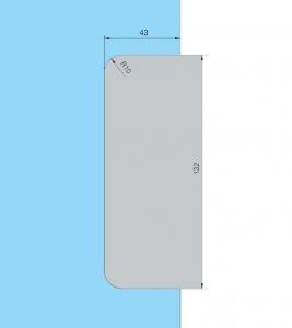 Contraplaca sticla GK 50 - pentru US 20 - Dorma Universal Light