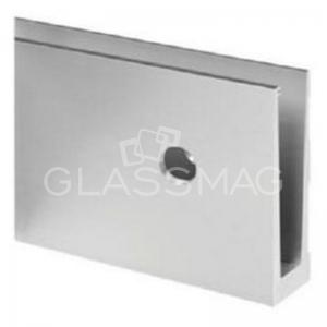 Profil U Easy Glass Eco fixare laterala, aluminiu eloxat