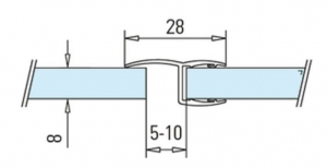 Garnitura cu banda la 180° cabina dus sticla 8-10 mm1