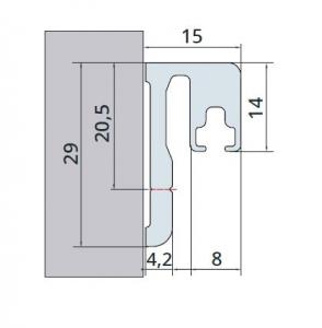 Suport garnitura magnetica/etansare cabina dus sticla 6-8 mm