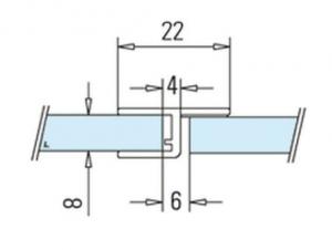 Garnitura rigida cu banda la 180° cabina dus sticla 8-10 mm1