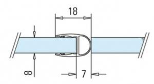 Garnitura tip A(balon) cabina dus sticla 8-10 mm