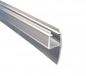 Garnitura ultraclara cu banda 10 mm la 180° cabina dus sticla 8 mm