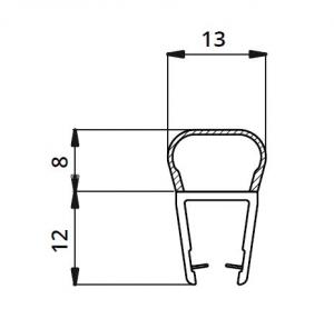 Garnitura ultraclara tip A(balon) cabina dus sticla 8 mm