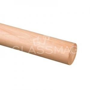 Mana curenta lemn, Ø42 mm ,L=2500 mm ,cires natur