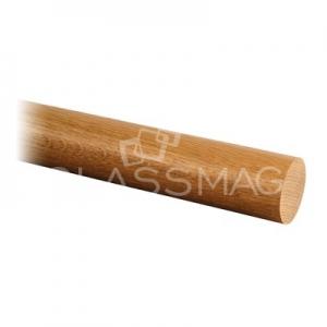 Mana curenta lemn, Ø42 mm ,L=2500 mm,stejar lacuit