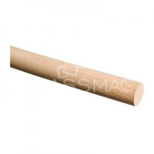 Mana curenta lemn, Ø48 mm ,L=2500 mm ,fag natur