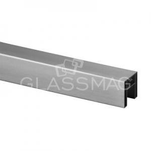 Mana curenta profilata ,40x40 mm ,L=5000 mm ,aluminiu, efect inox satinat