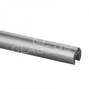Mana curenta profilata ,Ø42,4 mm ,L=2500 mm ,aluminiu, efect inox satinat