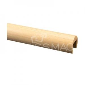 Mana curenta lemn, profilata, Ø42 mm ,L=2500 mm, fag lacuit