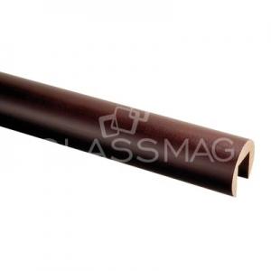 Mana curenta profilata lemn, Ø42 mm ,L=2500 mm, fag baituit si lacuit