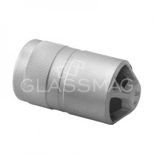 Piesa de legatura mana curenta ,Ø42.4 mm ,inox satinat