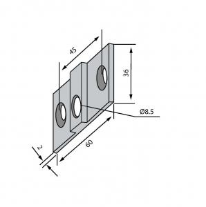 Placa fixare perete PT 30 - Dorma Universal Light1