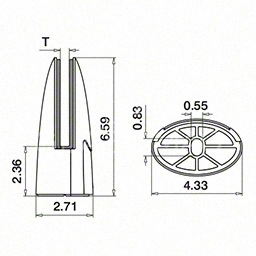 Prindere punctuala in pardoseala, G=12.76 mm ,inox satinat