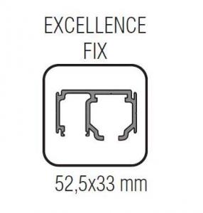 Profil glisare cu parte fixa Excellence EASY 801