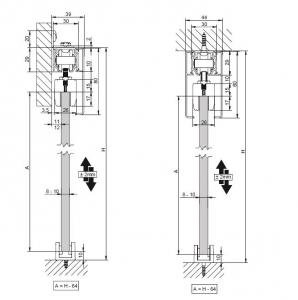 Profil glisare Standard EASY 802