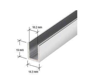 Profil U 19x14,3x2 mm cabina dus