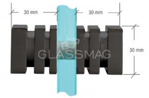 Buton SDK160 usa cabina dus sticla 6-12 mm,finsaj negru mat