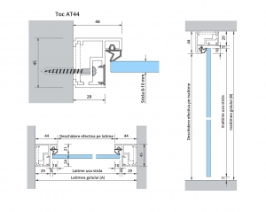 Set AT 44 inclusiv feronerie usa sticla 8-10 mm