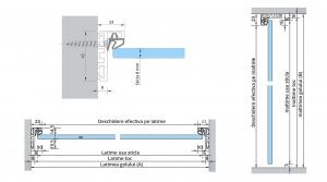 Set AT 23 inclusiv feronerie usa sticla 8-10 mm
