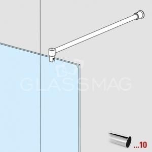 Set bara stabilizatoare 90°, crom lucios, L= 1250 mm