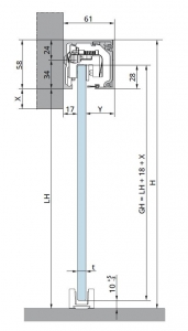Set glisanta Muto Comfort L80 1 foaie mobila
