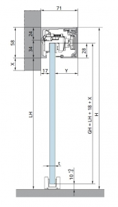 Set glisanta Muto Comfort L80 Dormotion 1 foaie mobila1